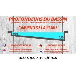 PANNEAU PROFONDEUR BASSIN 5L - 1000 X 500 X 10
