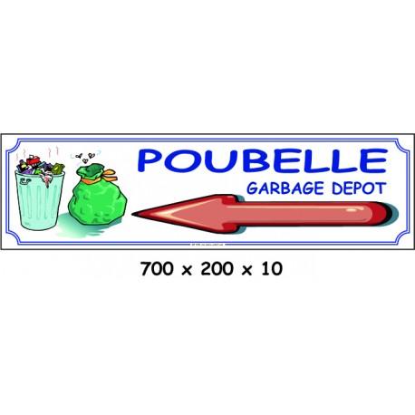 PANNEAU POUBELLE DIRECTION - 700 X 200 X 10 (copie)