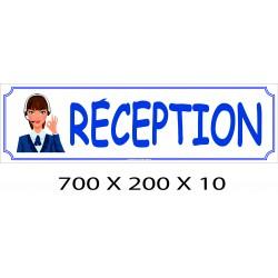 PANNEAU RÉCEPTION - 700 X 200 X 10