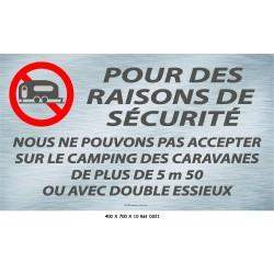 PANNEAU POUR DES RAISONS SÉCURITÉ  - 700 X 400 X 10