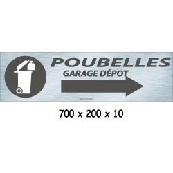 PANNEAU POUBELLE DIRECTION - 700 X 200 X 10