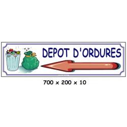 DÉPÔT D'ORDURES D - 700 X 200 X 10