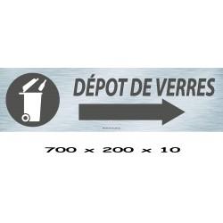 PANNEAU DÉPÔT DE VERRE DIRECTIONNEL  - 700 X 200 X 10