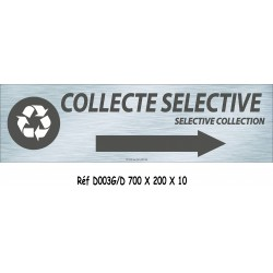 PANNEAU COLLECTE SÉLECTIVE DIRECTIONNEL - 700 X 200 X 10