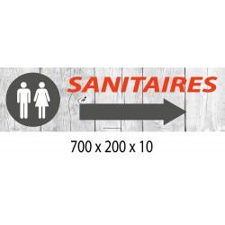 PANNEAU SANITAIRES DIRECTIONNEL - 700 X 200 X 10