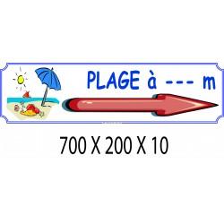 PANNEAU PLAGE DIRECTIONNEL - 700 X 200 X 10