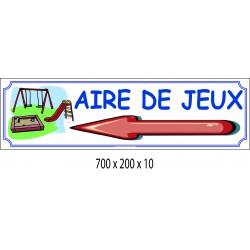 PANNEAU JEUX DIRECTIONNEL - 700 X 200 X10