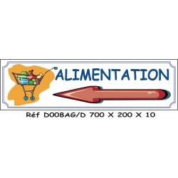 PANNEAU ALIMENTATION DIRECTIONNEL - 700 X 200 X 10