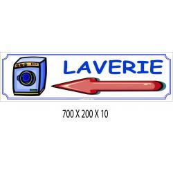 PANNEAU LAVERIE DIRECTIONNEL - 700 X 200 X 10