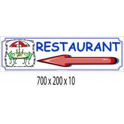 PANNEAU RESTAURANT DIRECTIONNEL - 700 X 200 X10