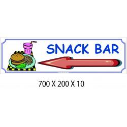 PANNEAU SNACK BAR DIRECTIONNEL - 700 X 200 X 10