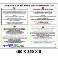 CONSIGNE SÉCURITÉ INONDATION PM 4L - 450 X 350 X 5