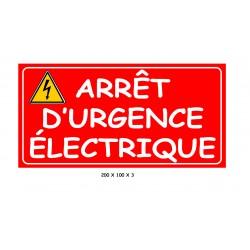 ARRÊT D'URGENCE ÉLECTRIQUE- 100 X 200 X 3