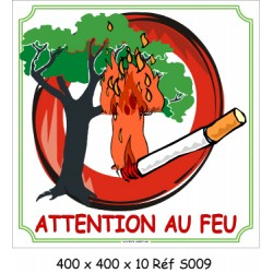 ATTENTION AU FEU - 400 X 400 X 10