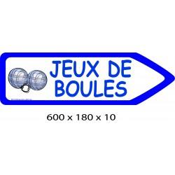 FLECHE VSIGNAL JEUX DE BOULES DIRECTIONNEL - 600 X 180 X 10