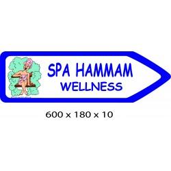 FLECHE SIGNAL SPA HAMMAM DIRECTIONNEL - 600 X 180 X 10