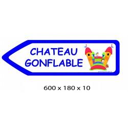 FLECHE SIGNAL CHATEAU GONFLABLE DIRECTIONNEL - 600 X 180 X 10