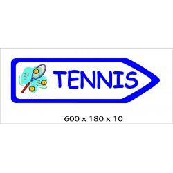 FLECHE SIGNAL TENNIS DIRECTIONNEL -  600 X 180 X 10