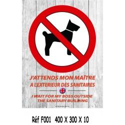 PANNEAU J'ATTENDS MON MAITRE 2L - 400 X 300 X 10