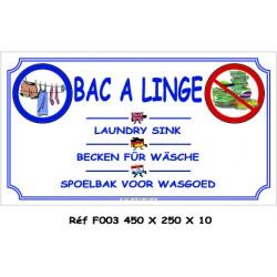 PANNEAU BAC LINGE 4L - 450 X 250 X 10 (copie)