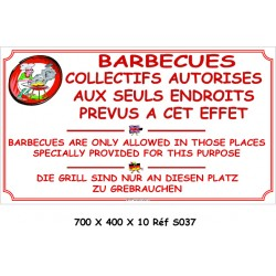 BARBECUES COLLECTIFS 3L - 700 X 400 X 10