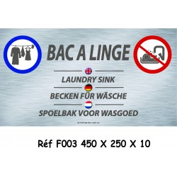 PANNEAU BAC LINGE 4L - 450 X 250 X 10