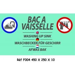 BAC VAISSELLE 4L - 450 X 250 X 10