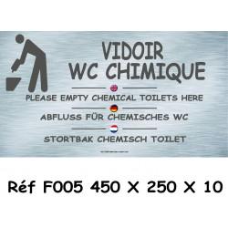 PANNEAU VIDOIR WC CHIMIQUE - 450 X 250 X 10
