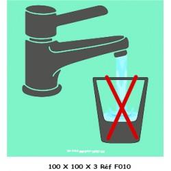 LOGO PORTE EAU NON POTABLE - 100 X 100 X 3