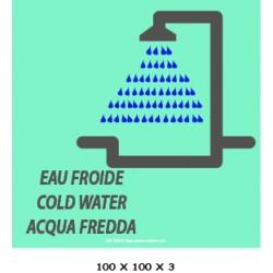 LOGO DOUCHE EAU FROIDE / CHAUDE - 3L / 4L - 100 X 100 X 3