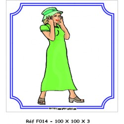 LOGO PORTE FEMME / HOMME - 100 X100 X 3