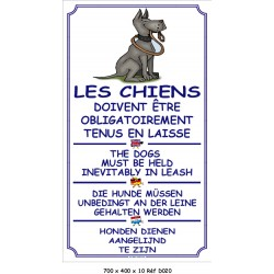 CHIENS EN LAISSE V 4L - 700 X 400 X 10