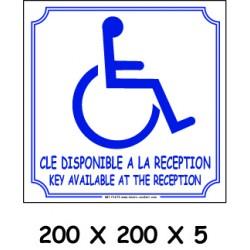 CLÉ HANDICAPE 2L - 200 X 200 X 5