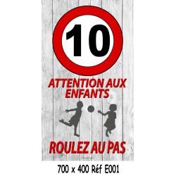 PANNEAU 10KM/H ENFANTS - 700 X 400 X 10