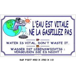 GASPILLEZ PAS L'EAU 3L - 450 X 250 X 10
