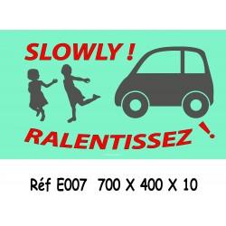 PANNEAU RALENTISSEZ 2L - 700 X 400 X 10