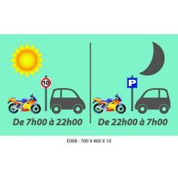 PANNEAU HEURES JOUR / NUIT - 700 X 400 X 10