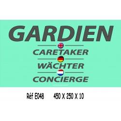 PANNEAU GARDIEN 4L - 450 X 250 X 10