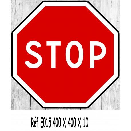 Panneau Stop 400 X 400 X 10