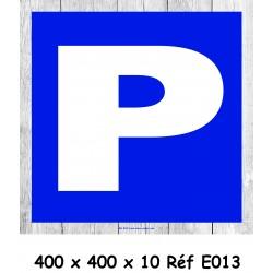 PANNEAU PARKING - 400 X 400 X 10
