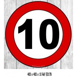 Panneau 10 km/h 400 X 400 X 10