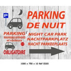 PANNEAU PARKING NUIT 4L - 1000 X 750 X 10