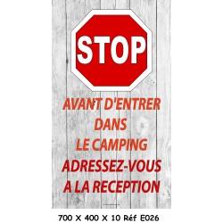 PANNEAU STOP ENTRÉE - 700 X 400 X 10