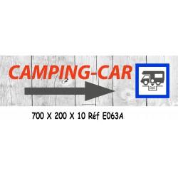 PANNEAU DIRECTIONNEL CAMPING CAR - 700 X 200 X 10