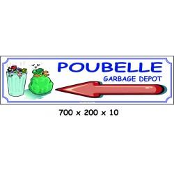 POUBELLE D - 700 X 200 X 10