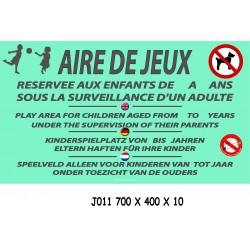 PANNEAU AIRE DE JEUX  4 L - 700 X 400 X 10