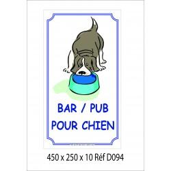 BAR POUR CHIEN 450 X 250 X 10