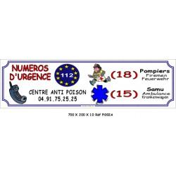 NUMÉRO D'URGENCE - 700 X 200 X 10