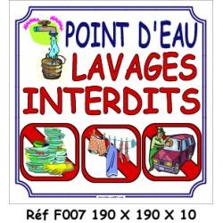 LAVAGES INTERDITS - 200 X 200 X 10