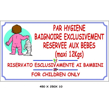 BAIGNOIRE BÉBÉ 3L - 450 X 250 X 10
